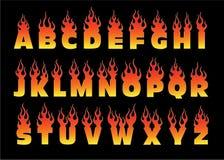 Vurig brievenontwerp Royalty-vrije Stock Afbeelding