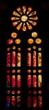 Vurig gebrandschilderd glasvenster Royalty-vrije Stock Foto's