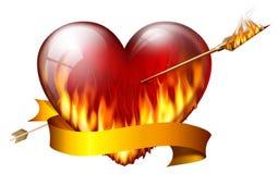 Vurig hart Stock Afbeelding