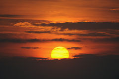 Vurig zonlandschap Stock Foto's