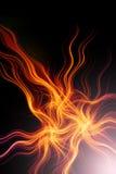 Vurige abstracte achtergrond Royalty-vrije Stock Afbeeldingen