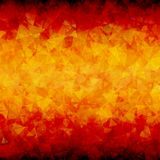 Vurige abstracte horizontale driehoeksachtergrond Royalty-vrije Stock Foto