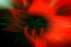 Vurige bloem van heldere rode en zwarte kleuren, als achtergrond royalty-vrije illustratie