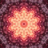 Vurige fractal mandala vector illustratie