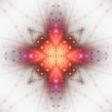 Vurige fractal vorm vector illustratie