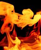 Vurige gasachtige vormen Stock Afbeelding