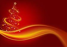 Vurige Kerstboom Stock Afbeelding