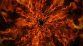 Vurige Ring, Vlammenachtergrond, Aard Royalty-vrije Stock Afbeeldingen