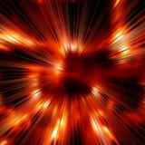 Vurige stralenachtergrond Stock Afbeeldingen