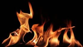 Vurige vlammen Stock Foto