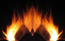 Vurige vlammen Royalty-vrije Stock Afbeelding