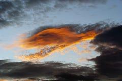 Vurige wolk Stock Afbeeldingen