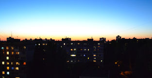 Vurige zonsondergang Stock Foto's