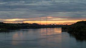 Vurige zonsondergang Stock Afbeelding