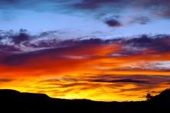 Vurige zonsopgang Royalty-vrije Stock Foto's