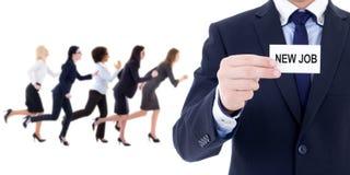Vusiness e concetto di carriera - specialista di ora e azienda corrente immagini stock libere da diritti