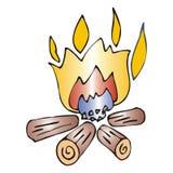 Vuur vector illustratie