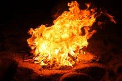 Vuur bij nacht Royalty-vrije Stock Afbeelding