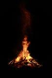 Vuur bij nacht Royalty-vrije Stock Fotografie