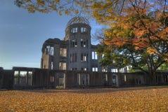 In vuur en vlam Hiroshima Stock Afbeelding