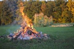 Vuur in het land Royalty-vrije Stock Foto's