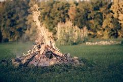Vuur in het land Royalty-vrije Stock Foto