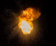 Vuurbol: explosie, ontploffing royalty-vrije stock afbeelding