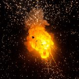 Vuurbol: explosie, ontploffing stock foto's