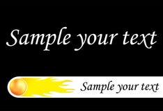 Vuurbol voor uw ontwerp Royalty-vrije Stock Afbeeldingen