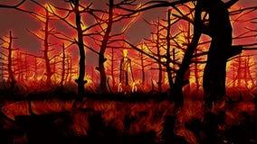 Vuurhaard Slenderman vector illustratie