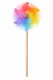 Vuurrad die, kleurrijk stuk speelgoed op wit bewegen zich Royalty-vrije Stock Afbeeldingen