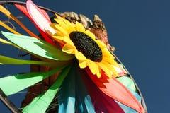 Vuurrad, stuk speelgoed windmolen Stock Afbeelding