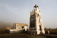Vuurtoren Barril, Kaapverdië Stock Fotografie