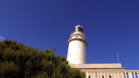 Vuurtoren bij GLB Formentor Mallorca stock footage