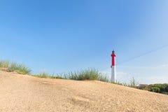 Vuurtoren bij het strand Royalty-vrije Stock Foto
