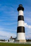 Vuurtoren in Bodie Island Stock Foto's