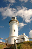 Vuurtoren - Byron Baai, Australië stock afbeelding