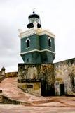 Vuurtoren, Castillo San Felipe del Morro Royalty-vrije Stock Afbeeldingen