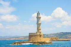Vuurtoren in Chania Kreta. Royalty-vrije Stock Afbeelding