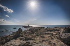 Vuurtoren Corbiere, het Eiland van Jersey Royalty-vrije Stock Foto