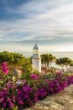 Vuurtoren in Costa Brava Spain Royalty-vrije Stock Afbeelding