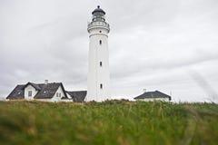 Vuurtoren in Denemarken Stock Fotografie