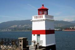 Vuurtoren die Noord-Vancouver overziet Royalty-vrije Stock Foto's