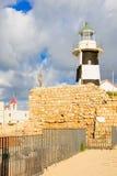Vuurtoren en St John de Doopsgezinde kerk, Acre royalty-vrije stock fotografie