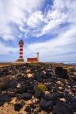 Vuurtoren in Fuerteventura Royalty-vrije Stock Foto's