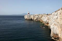Vuurtoren in Gibraltar Stock Foto