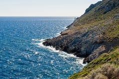 Vuurtoren in Griekenland Stock Fotografie