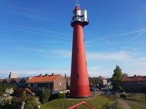 Vuurtoren Holland stock afbeelding