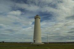 Vuurtoren IJsland, zuidwestenpunt Royalty-vrije Stock Afbeeldingen