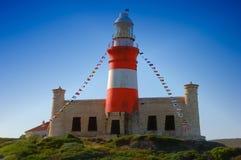Vuurtoren (Kaap Agulhas) Stock Foto's